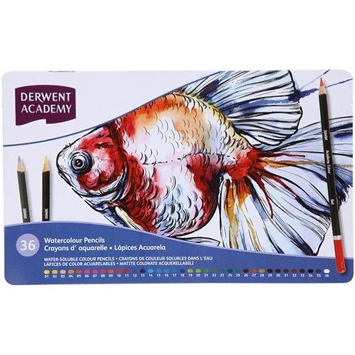 Derwent Academy Watercolour Pencils - Tin Set of 36