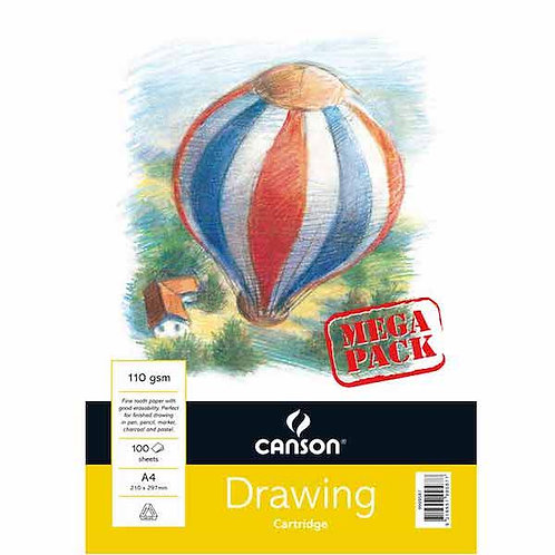 Canson Drawing Cartridge Pad - 110GSM