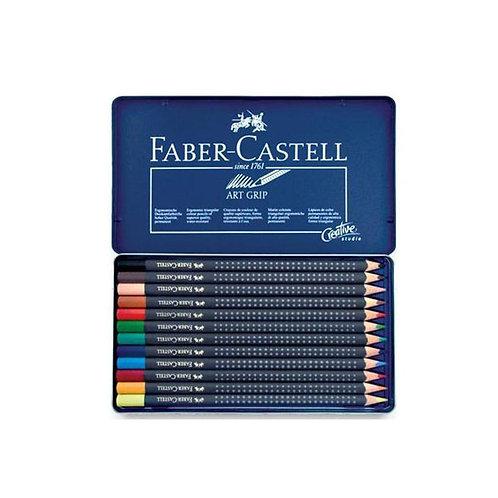 Faber Castell Art Grip Pencils Tin of 12
