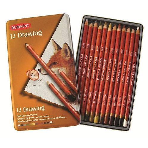 Derwent 12 Drawing Pencils