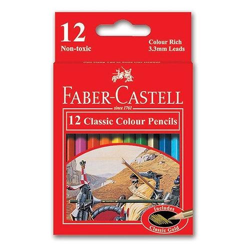 Faber-Castell Classic Colour Pencils - Set of 12
