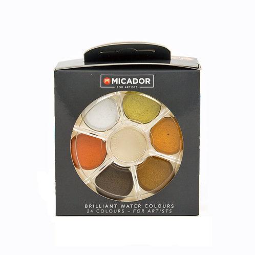 Micador Brilliant Water Colours Disk Set 24