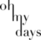 Oh My Days Final Logo - Black.png