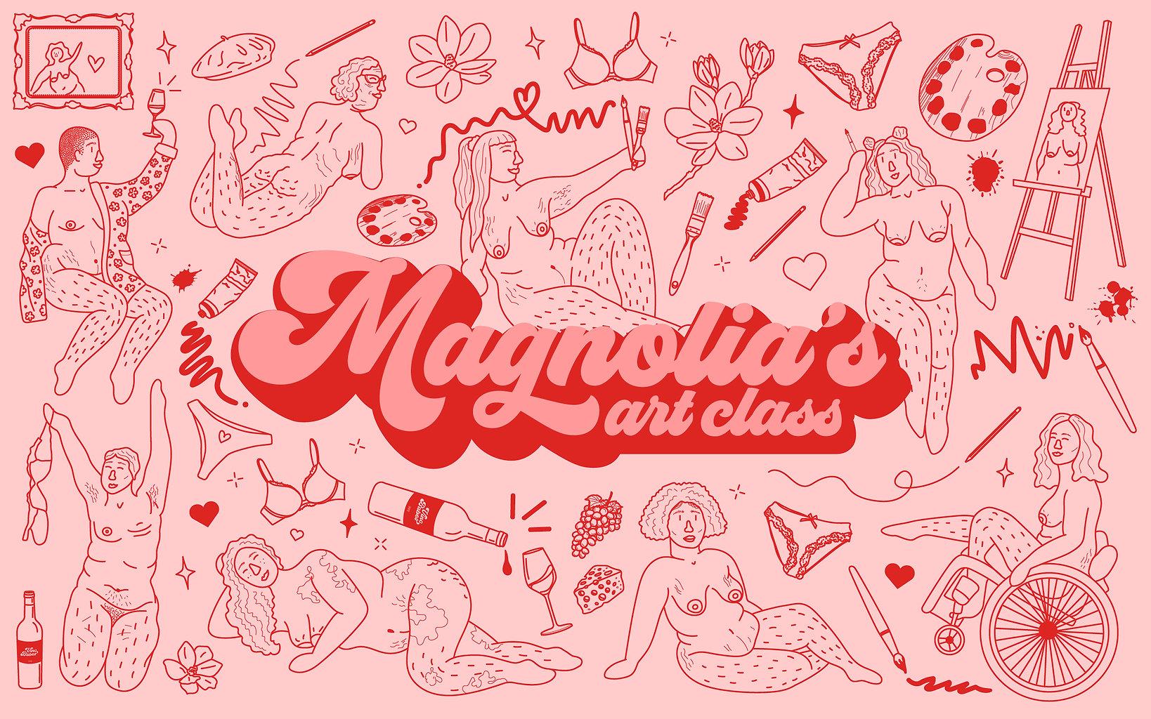 PB2003_Magnolias-BannerIllustration-Pink