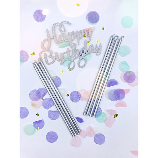 Extra Tall Silver Candles
