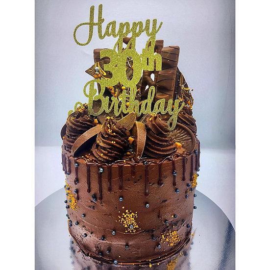 Chocolate Orange Explosion Cake