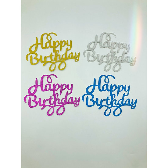 "Standard Cake Topper ""Happy Birthday"""