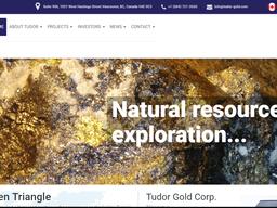Welcome to our New Website Sponsor – Tudor Gold (TUD.V)