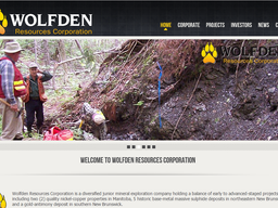 Welcome To Our New Website Sponsor – Wolfden Resources