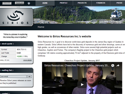 Welcome to our New Website Sponsor – Sirios Resources (SOI.V)