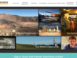 Welcome To Our New Website Sponsor – Premier Gold Mines