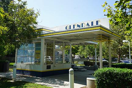 Art Installation on Display at Glendale's Adams Square Mini Park Gas Station