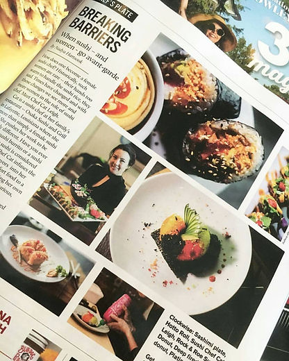 Article in 337 Magazine in Lafayette, LA about Cat Leigh and sushi creations.