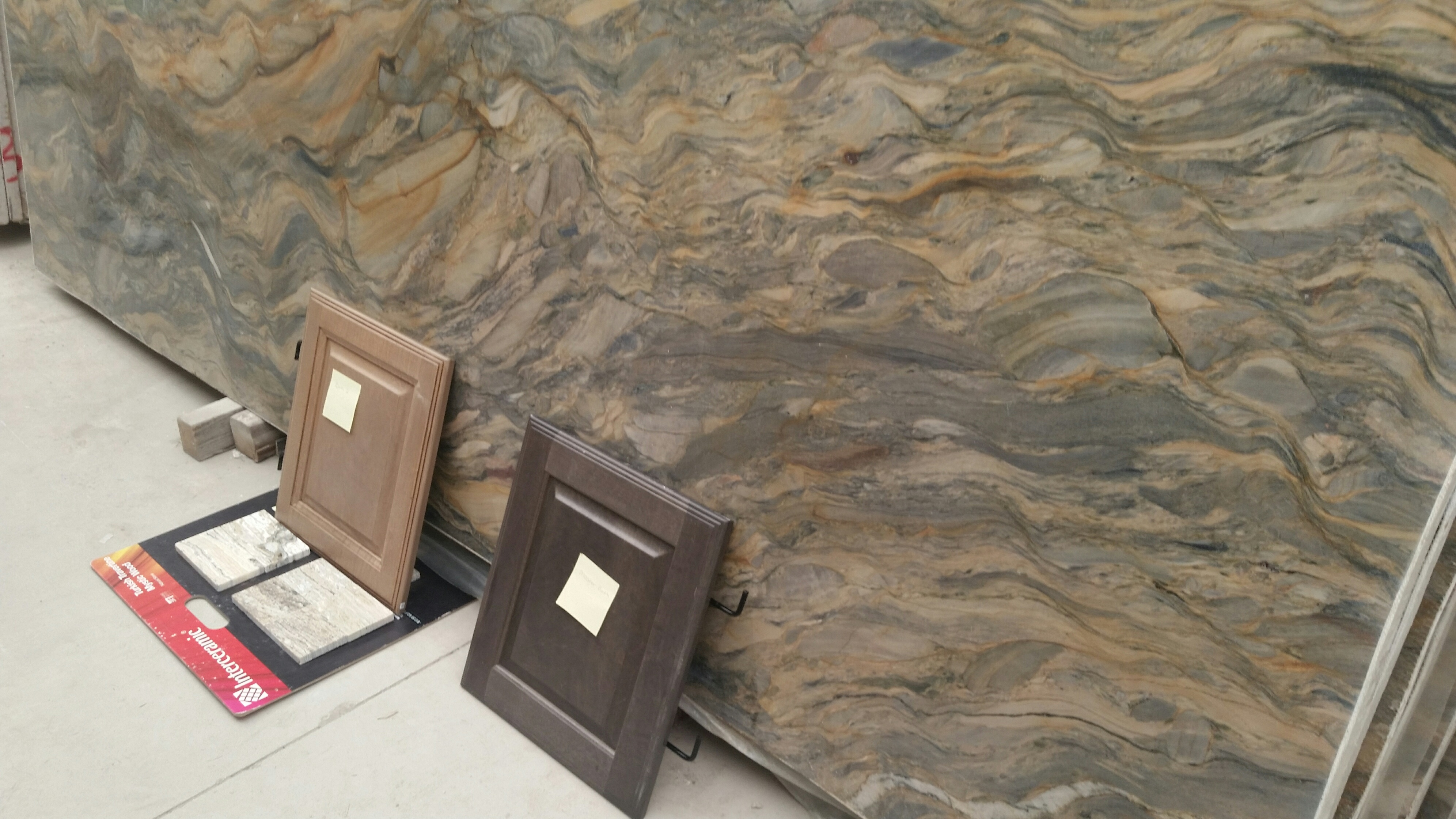Master Bath and Bath 2 selections with Quartzite Fusion. They did not want this slab because it had
