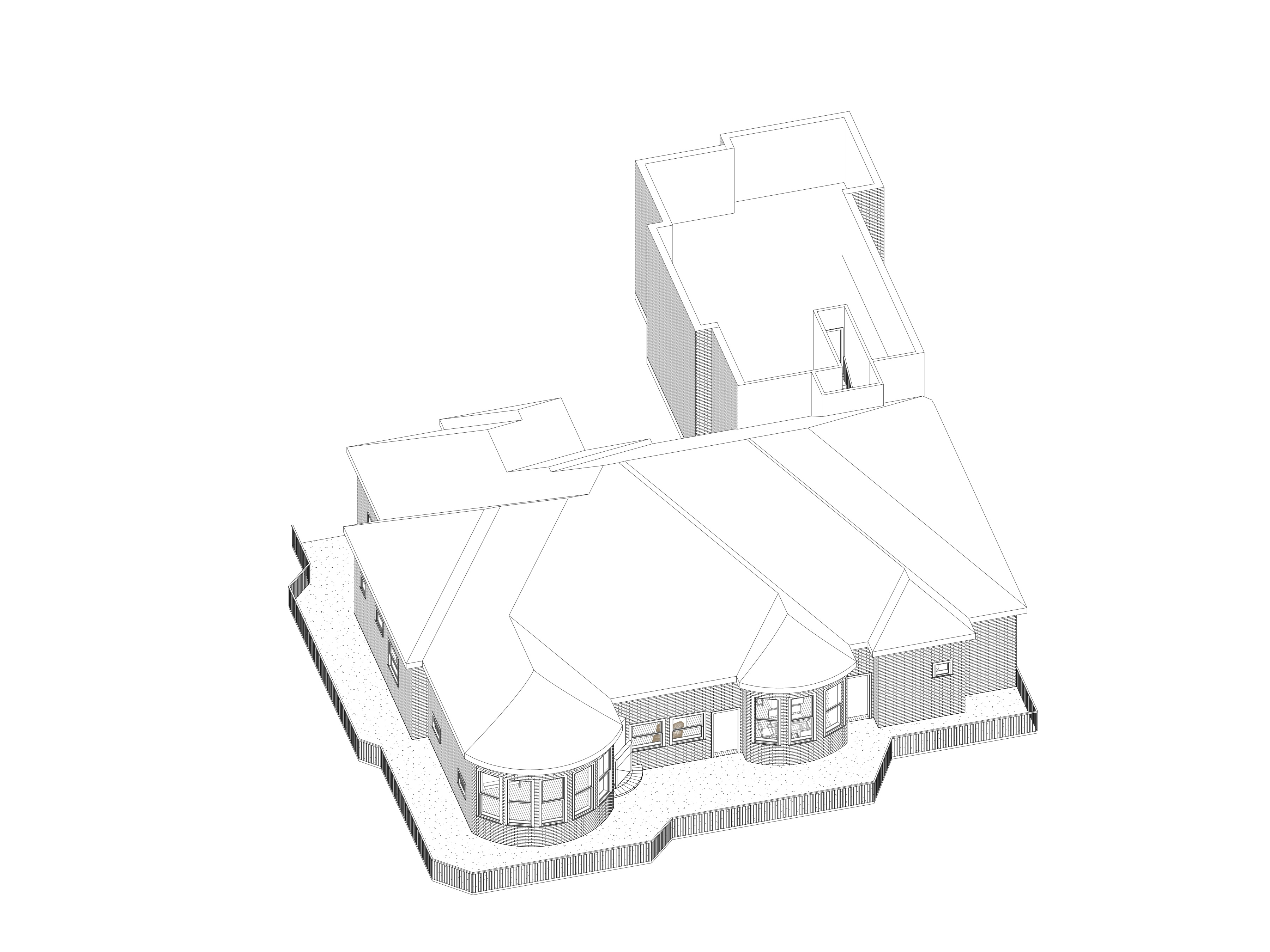 3D with Roof