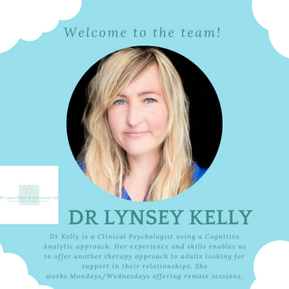 New team member joining us soon! Dr Lynsey Kelly
