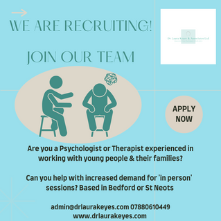 Recruiting child & adolescent Psychologists / Therapists...