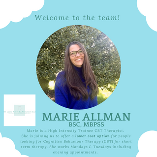 A warm welcome to the team to Marie Allman