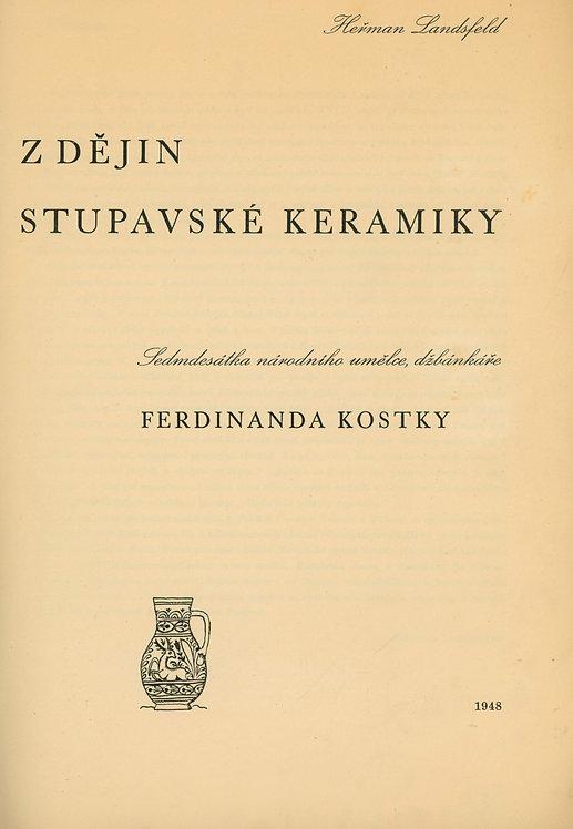 Landsfeld Heřman, Z dějin stupavské keramiky