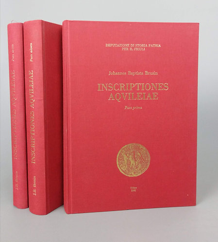 Brusin Johannes Baptista, Inscriptiones Aqvileiae, 3 diely