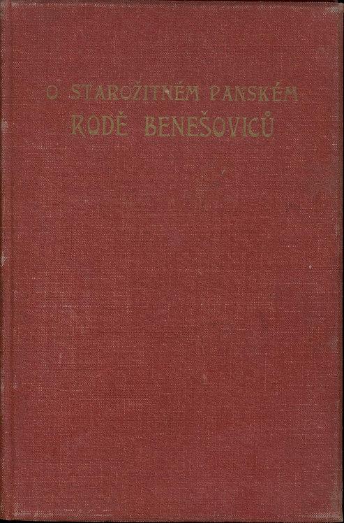 Dvorský Frant., O starožitném panském rodě Benešoviců