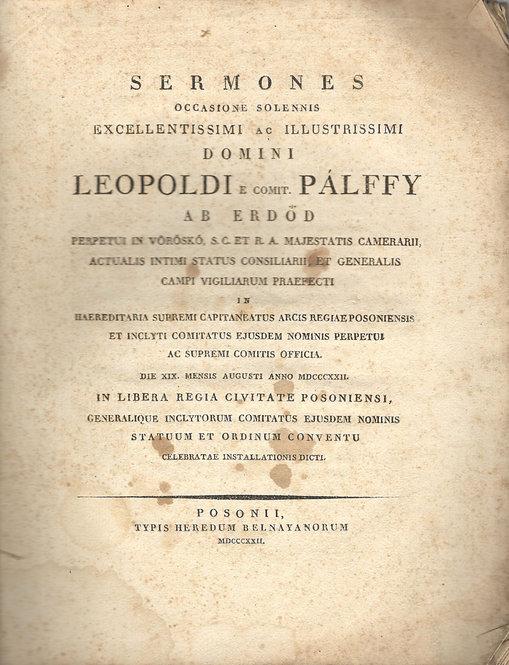 Sermones Occasione Solemnis Domini Leopoldi e comit. Pálffy, 1822