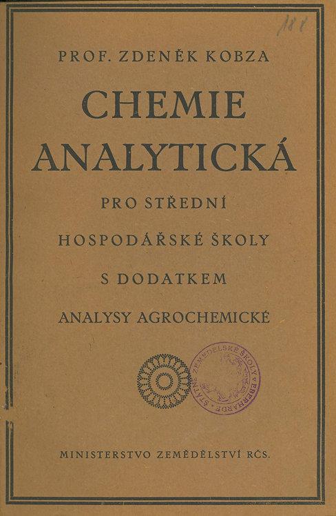 Kobza Zdeněk, Chemie analytická