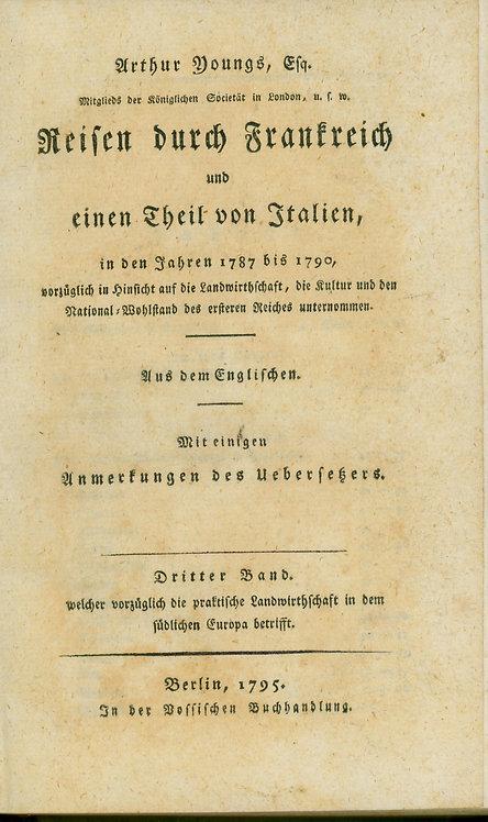 Arthur Youngs Reisen durch Frankreich , 1795