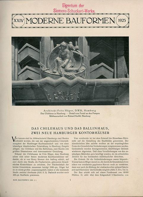 Moderne Bauformen, 1925