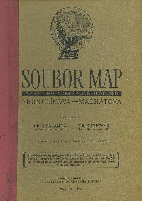 Brunclíková - Machátová, Soubor Map ze školníko zeměpisného atlasu
