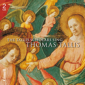 Album cover for The Tallis Scholars sing Thomas Tallis, featuring Spem in alium
