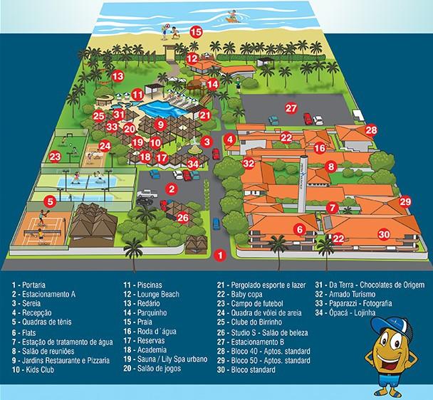 Mapa do Resort