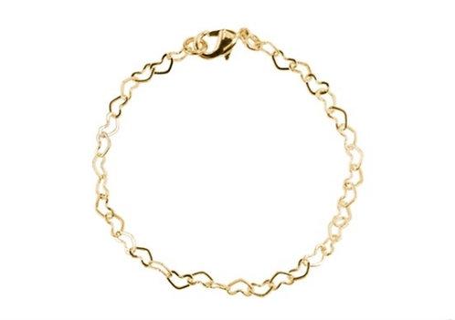 Bracelet x 18cm hollow hearts