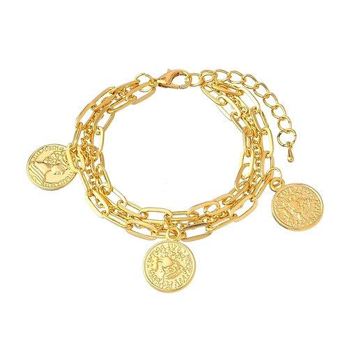 Bracelet with coins x 18cm