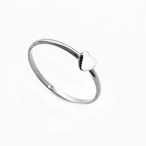 Ring with Heart (925 Silver)