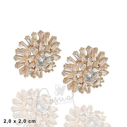 Earring Pizza Stones and Round Stone in Center
