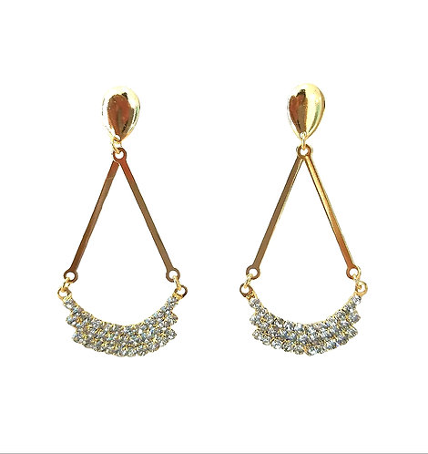 Drop Earring with Stone at the base