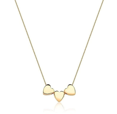 Necklace with Three Hearts