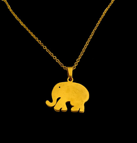 45 cm chain with stainless steel hanging elephant