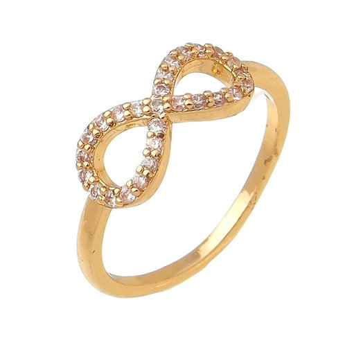 Infinity Ring with Stones