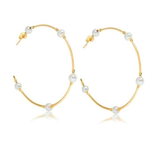 Hoop With Pearls
