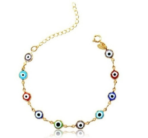 Bracelet x 18cm Multicolor Luck Eye