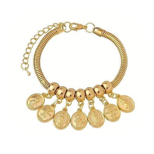 Pandora Inspired Bracelet x 18cm