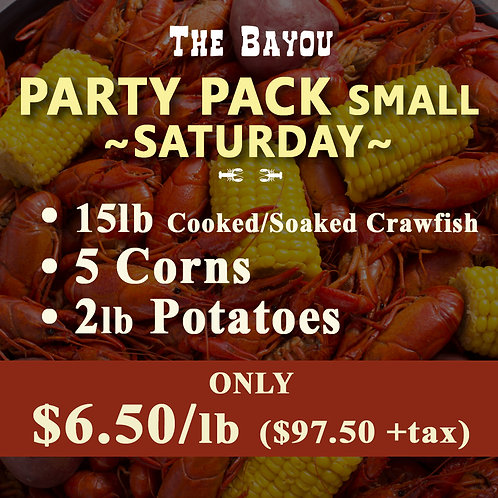 Party Pack SMALL - (Saturday)