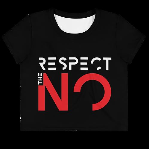 BLACK RESPECT THE NO CROP TOP