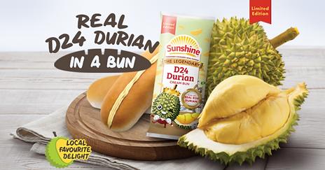 Sunshine Bakery Launches Legendary D24 Durian Cream Bun