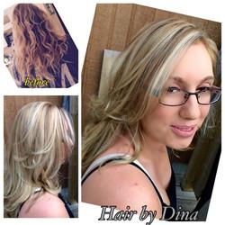 Platinum blond & sandy beige lowlite