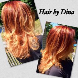 Red & Blond Bombshell Hair