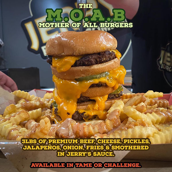 MOAB challenger burger panama city flori