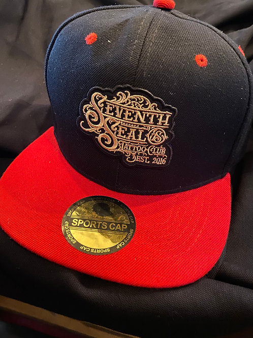 Seventh Seal Tattoo brand snap back- shop logo